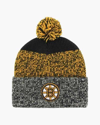 Boston Bruins Logo Static Cuff Knit Beanie