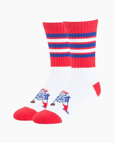New England Patriots Men's Sweep Hybrid Socks