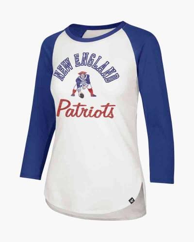 New England Patriots Women's Throwback Raglan Tee