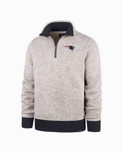 New England Patriots Men's Kodiak Quarter Zip Sweater