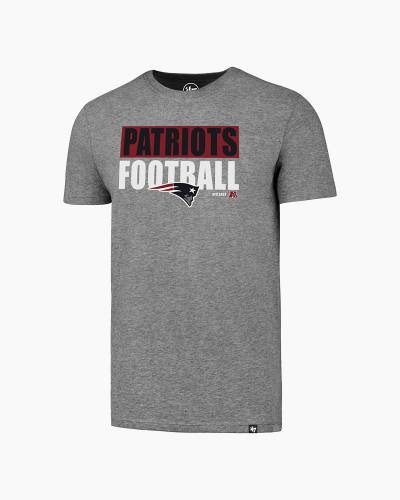 New England Patriots Stacked Logo Men's Tee