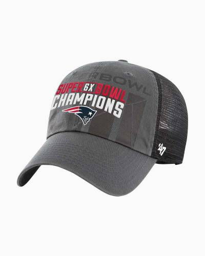02f8bcd96  47 New England Patriots 6X Super Bowl Champions Clean Up Cap ·