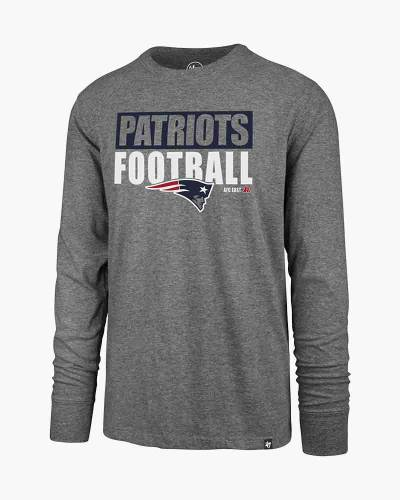 New England Patriots Blockout Club Long Sleeve Tee