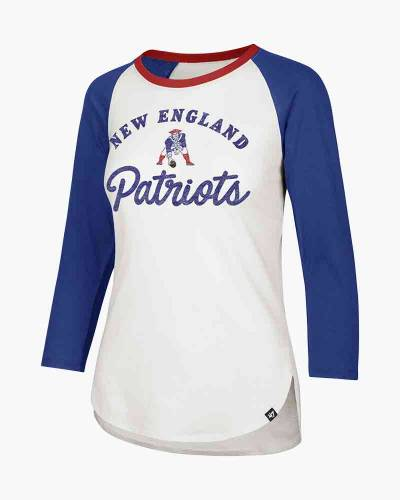 New England Patriots Women's Splitter Raglan Tee
