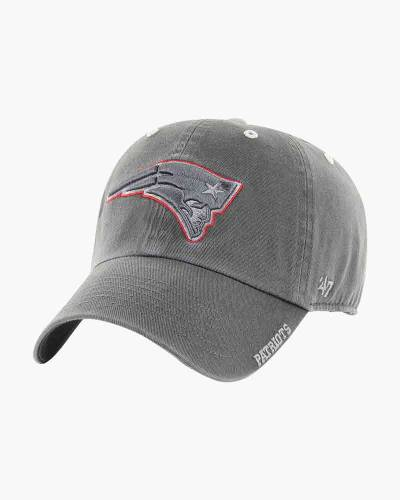 New England Patriots Ice Clean Up Cap in Charcoal