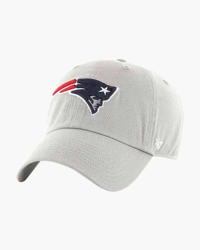 New England Patriots Clean Up Cap in Grey