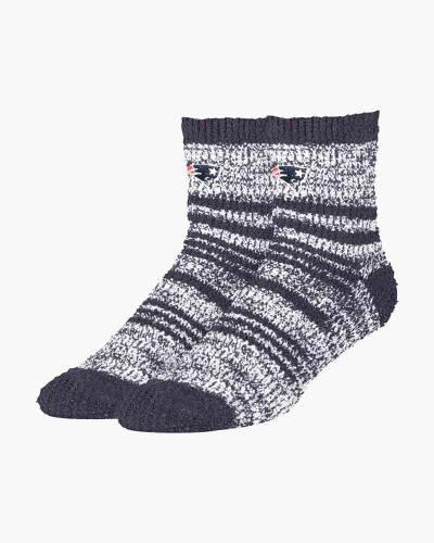 Women's New England Patriots Fuzzy Crew Socks