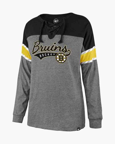 Women's Boston Bruins Laced Up Long Sleeve Tee