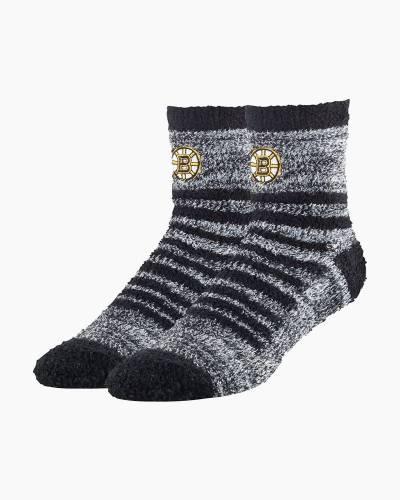 Boston Bruins Fuzzy Quarter Crew Socks
