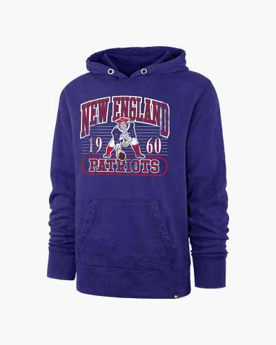 New England Patriots Men's Franconia Crosby Hooded Sweatshirt