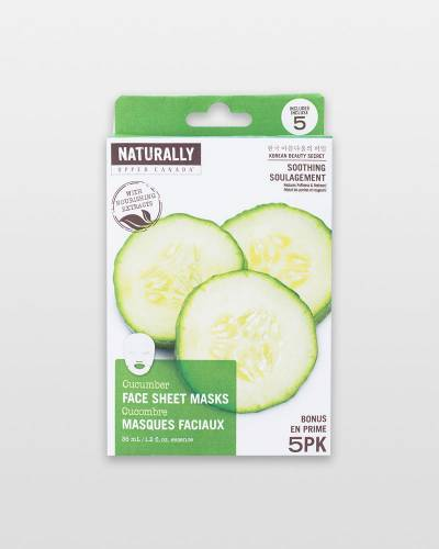 Cucumber Anti-Aging Face Masks (5-Pack)