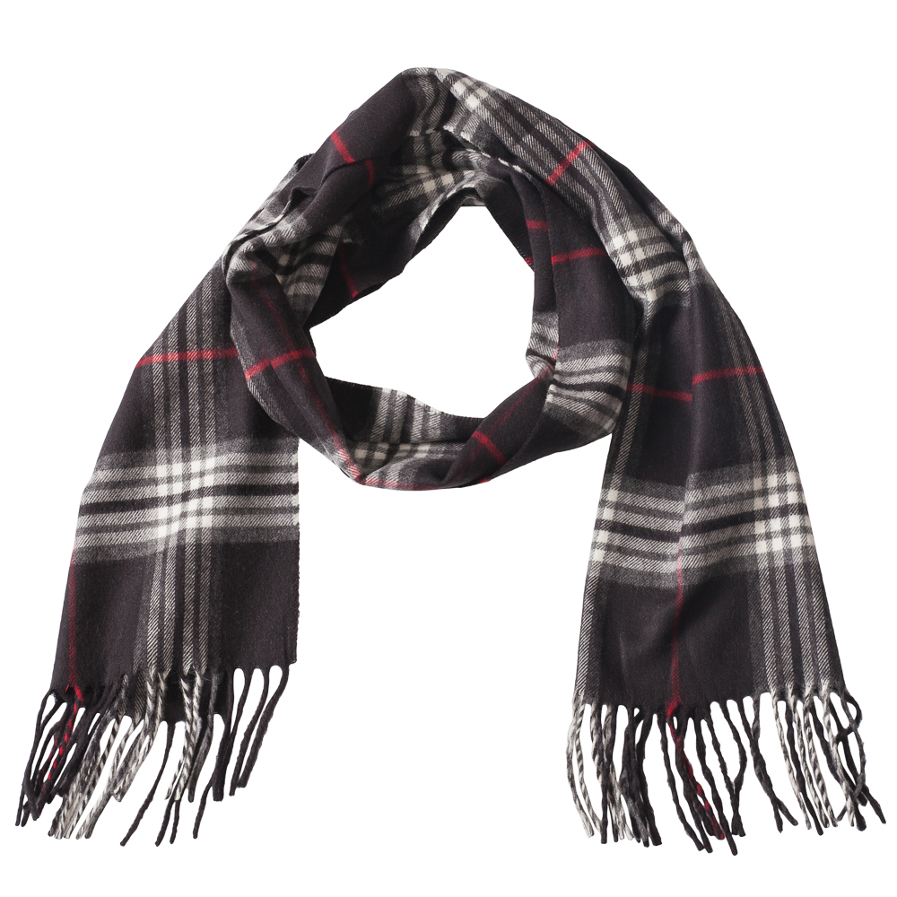 v fraas cashmink scarves plaid cashmink scarf in black
