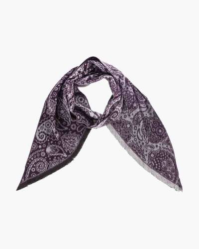 Lavender Print Bias Cut Cashmink Scarf