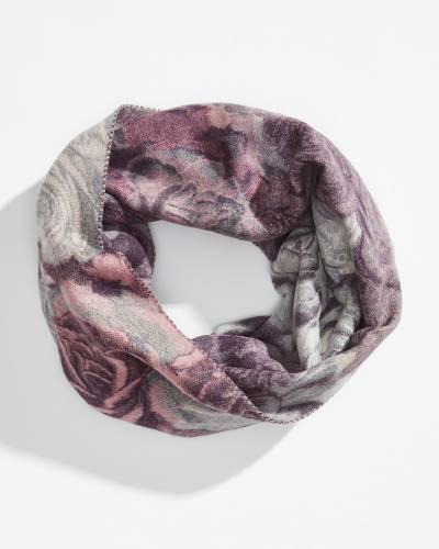 Floral Cashmink Infinity Scarf in Lavender