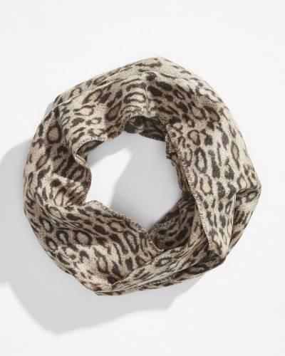 Leopard Print Cashmink Infinity Scarf