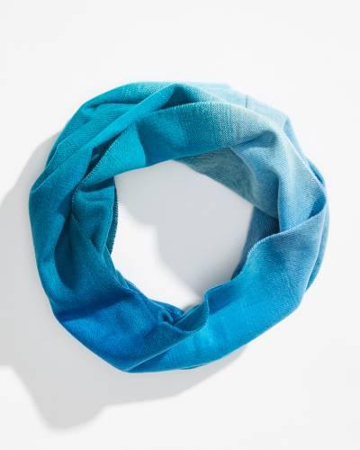 Ombre Cashmink Infinity Scarf in Blue