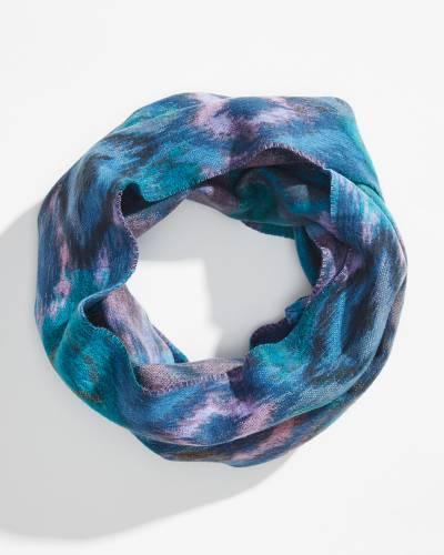 Ikat Cashmink Infinity Scarf in Blue