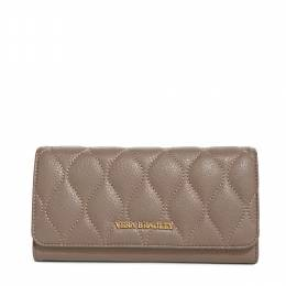 Vera Bradley Quilted Leather Audrey Wallet in Taupe