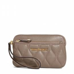 Vera Bradley Quilted Leather Sophie Wristlet in Taupe
