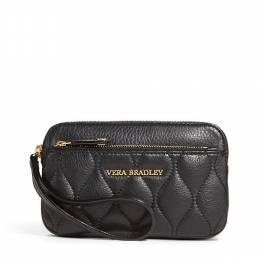 Vera Bradley Quilted Leather Sophie Wristlet in Black