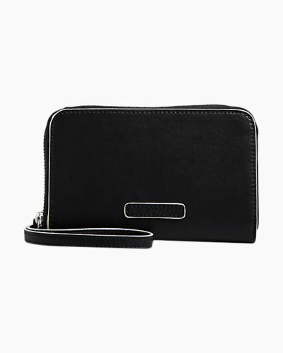 Zip-Around Wristlet in Black