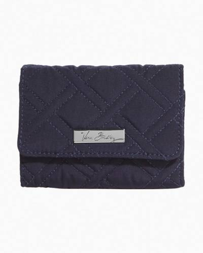 Petite Trifold Wallet in Classic Navy