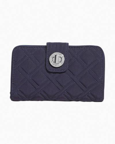 Turn Lock Wallet in Classic Navy