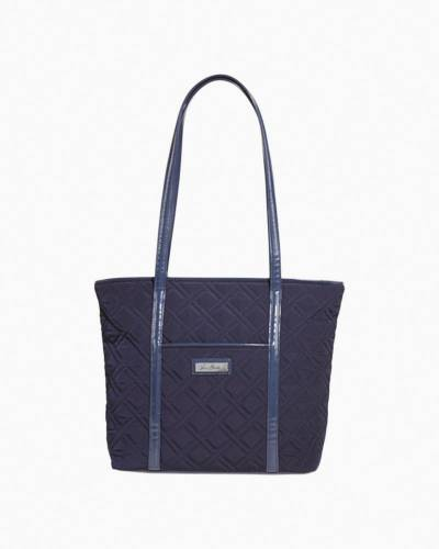 Small Trimmed Vera Tote in Classic Navy with Navy Trim