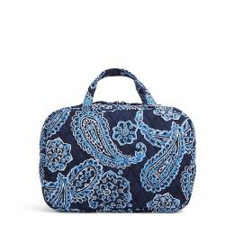 Vera Bradley Grand Cosmetic Bag in Blue Bandana