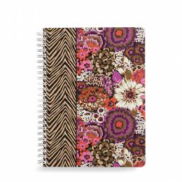 Vera Bradley Mini Notebook with Pocket in Rosewood