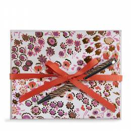 Vera Bradley Notecards with Pen in Rosewood