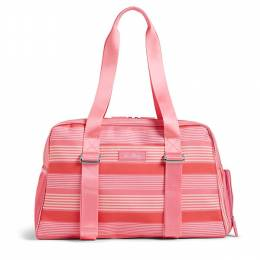 Lighten Up Yoga Sport Duffel Bag in Pink Tonal Stripe