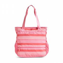 Vera Bradley Lighten Up NoSo Tote in Pink Tonal Stripe
