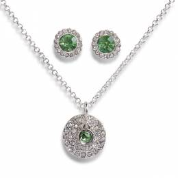 Vera Bradley August Necklace and Earrings Carded Set in Silver