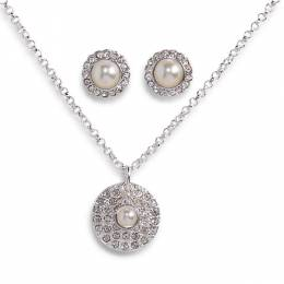 Vera Bradley June Necklace and Earrings Carded Set in Silver