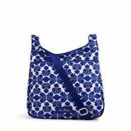 Vera Bradley Lighten Up Slim Crossbody in Cobalt Tile