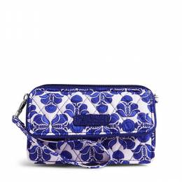 Vera Bradley All in One Crossbody and Wristlet for iPhone 6+ in Cobalt Tile