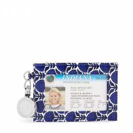 Vera Bradley Retractable Lanyard ID Case in Cobalt Tile
