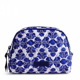 Vera Bradley Medium Zip Cosmetic in Cobalt Tile