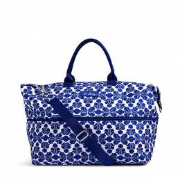 Vera Bradley Lighten Up Expandable Travel Bag in Cobalt Tile
