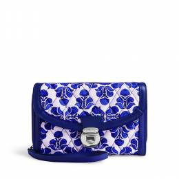 Vera Bradley Ultimate Wristlet in Cobalt Tile with Navy