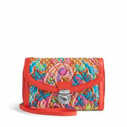 Vera Bradley Ultimate Wristlet in Paisley in Paradise with Red