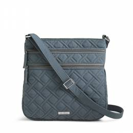 Vera Bradley Triple Zip Hipster Crossbody in Charcoal