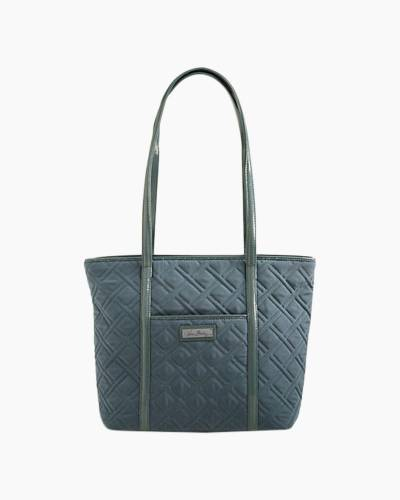 Small Trimmed Vera Tote in Charcoal