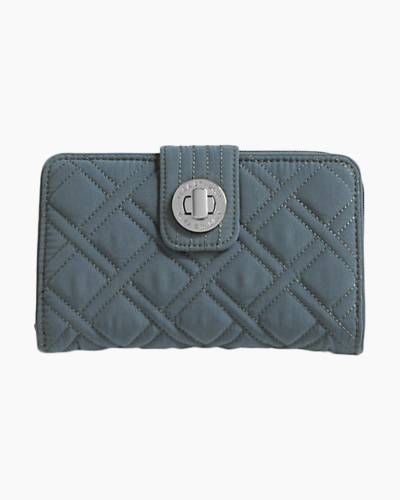 Turn Lock Wallet in Charcoal