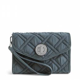 Vera Bradley Your Turn Smartphone Wristlet in Charcoal