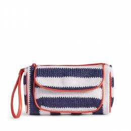 Striped Wristlet in Navy Stripe