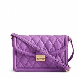 Quilted Tess Crossbody in Lavender