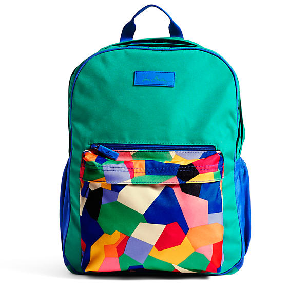 Vera Bradley Large Colorblock Backpack in Pop Art