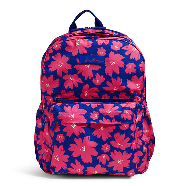 Vera Bradley Lighten Up Grande Laptop Backpack in Art Poppies